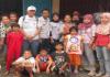Donation for disaster at Kampung Pulo, Jakarta 2014